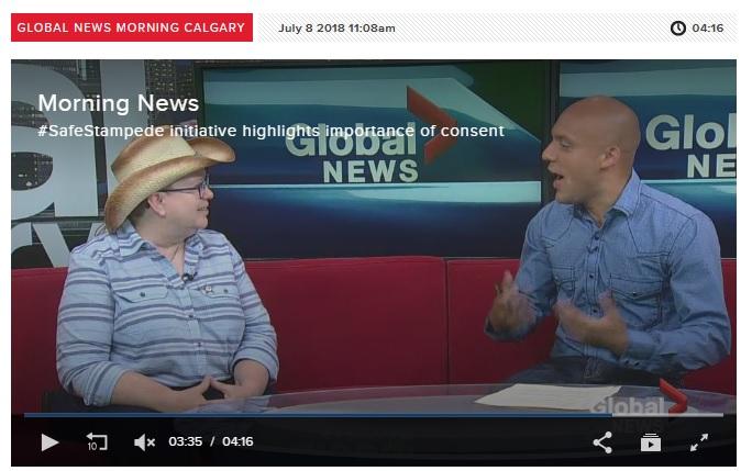Safestampede Featured On Global Morning News Safestampede